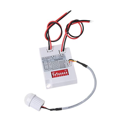 WDTong PIR-Bewegungssensorschalter TDL-2012 IR Infrarot-Körperinduktionsdetektor 12VDC