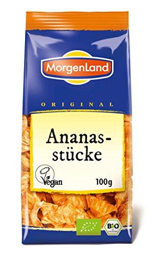 Regal Ananas (MorgenLand Bio-Ananasstücke, 4er Pack (4 x 100 g))