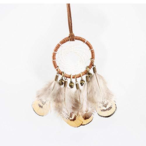 SJJUAN 2PCS Indischen ethnischen Stil Feder Glocke Traumfänger Halskette Pullover Kette Vintage handgewebte Mode kreative @ A -