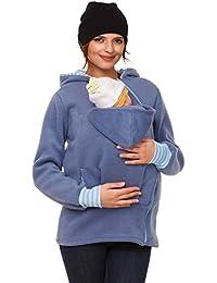 Happy Mama. Para mujer sudadera capucha top portador de bebé forro polar. 032p