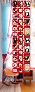 1,63 m Set Fotos Bilder Raumteiler Rahmen Collage Fotowand Kartenwand Fotovorhang Fototaschen Fotogalerie Kunststoff Fotohalter Rot