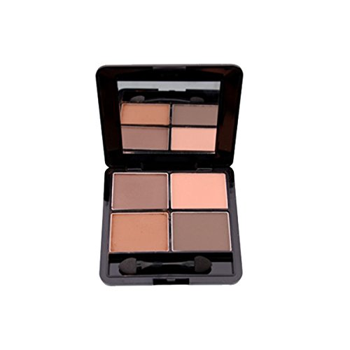 PIXNOR 4 Couleurs Fard à Paupières Palette de Maquillage avec Miroir et Eponge