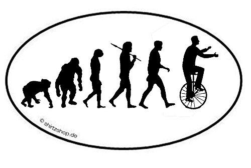 Preisvergleich Produktbild Einrad Zirkus Manege Artist Evolution Aufkleber Autoaufkleber Sticker Vinylaufkleber Decal