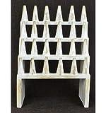 Gran porte-bagues/expositor para anillos (24conos) madera maciza acabado blanco encalado