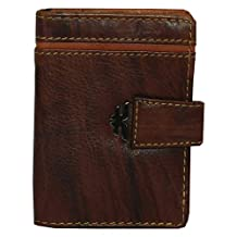 Laveri Dark Brown Leather For Unisex - Card & ID Cases