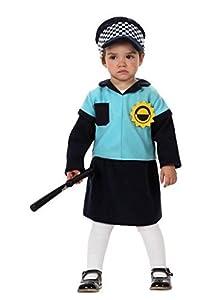 Atosa-10485 Disfraz Policía, Color Negro, 12 a 24 Meses (10485