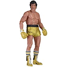 Neca - Figurine Rocky III - Rocky Balboa Gold trunks 40th Anniversary 18cm - 0634482530702