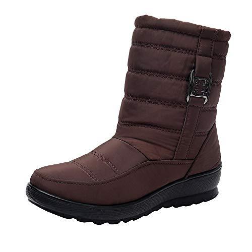 Schuhe Damen Winter Stiefel Stiefeletten Schneestiefel Warm Gefütterte DOLDOA