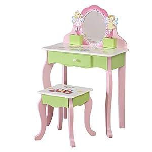 WODENY Ganzkörper Standspiegel für Kinder | Bodenspiegel für Kinder | Kinder Schminkspiegel verstellbar aus Holz mit…
