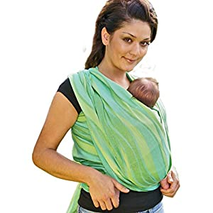 Didymos Waves Baby Wrap Sling (Size 2, Lime)   9