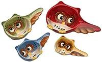 Cosmos Gifts 10910 Owl Design 4-Piece Measuring Spoon, 3-1/4-Inch