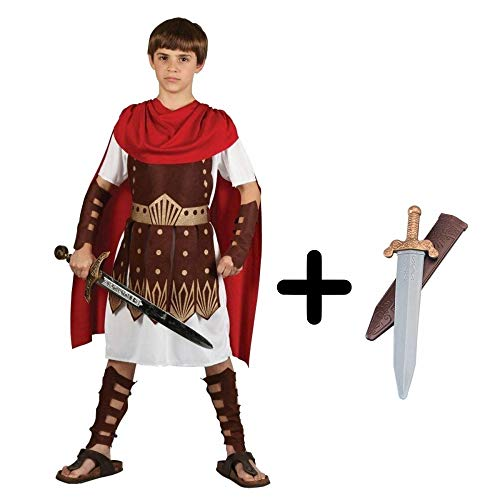 Gladiator Sparticus Fancy Dress COSTUME + ROMAN SWORD : Size: 5 - 7 years ()
