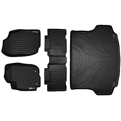 Maxliner MAXFLOORMAT Complete Set Custom Fit All Weather Floor Mats For Select Toyota RAV4 Models - (Black) by MAXLINER