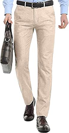 478fb7214c23 Image Unavailable. Image not available for. Colour  HOEREV Mens Summer linen  Casual Trousers