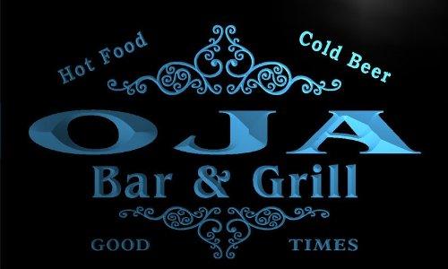 u33139-b OJA Family Name Bar & Grill Home Brew Beer Neon Sign Barlicht Neonlicht Lichtwerbung