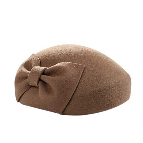 Frauen Beret weiblichen Britischen Fascinators Top Hat Bug Wollfilz Cap Vintage Wolle Beret