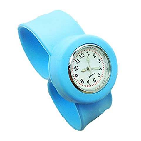 Funny 10 Color Kids' Small Silicone Slap Numbers Wrist Watch
