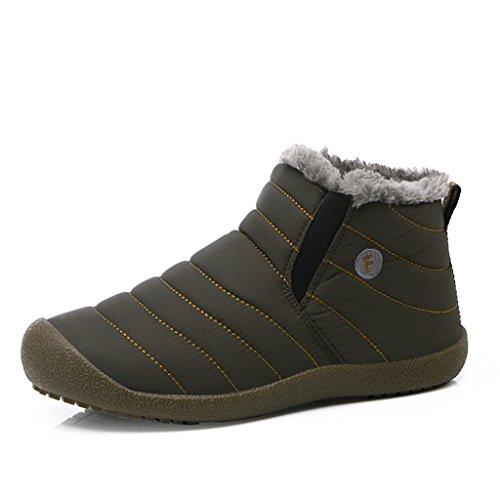 SITAILE Herren Schneestiefel Outdoor Boots Winter Kurzschaft Stiefel Warm Gefütterte Winterschuhe,Grau,42 (Wildleder Knöchel Reißverschluss Stiefel Braun)