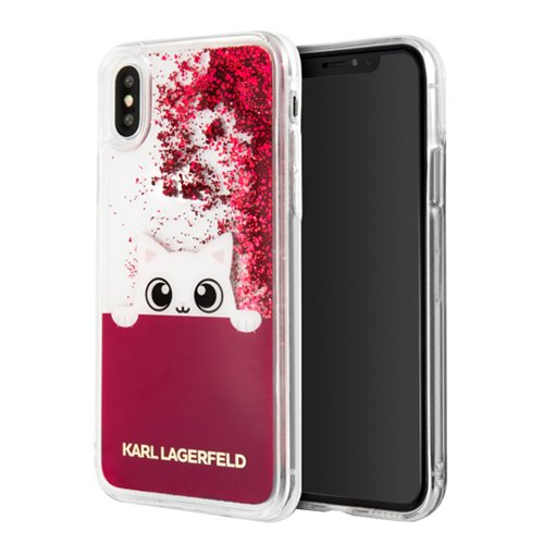 Karl Lagerfeld KLHCPXPABGFU CG Mobile Handyhülle für Apple iPhone X Rosa