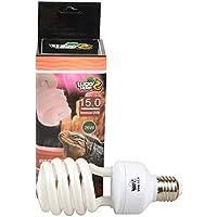 Bombilla compacta fluorescente para reptiles de rayos UVA y UVB 15.0, 13W, 26W