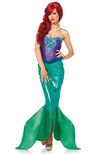 Leg Avenue 85368 - Deep Sea Siren Damen kostüm , Größe Large (EUR 40), Karneval Fasching