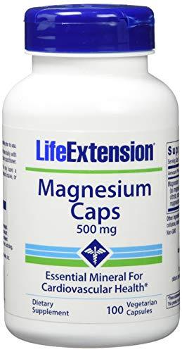500 Mg Vegetarische Caps (Life Extension , Magnesium Caps , 500 mg , 100 Kapseln , hochdosiert , Vegetarisch , ohne Gentechnik)