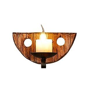 Wand lampe Holz Retro Industrie, Vintage Nachahmung Marmor Wandleuchte Modern Design Industrielampe Wandlampe Metall Flurlampe Leseleuchte für Bar Restaurant Schlafzimme Esszimmer Beleuchtung E14 *1