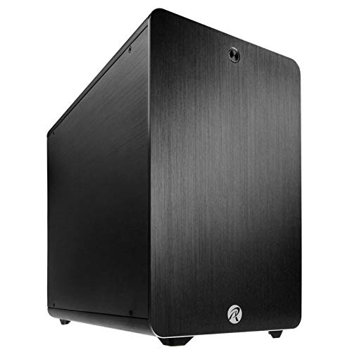 RAIJINTEK Styx Classic-Box von Computer (PC, Aluminium, 1x 120mm, unten, Micro-ATX, Mini-ITX, schwarz) -