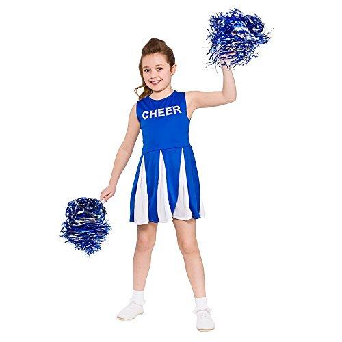 Girls Cheerleader - Blue 2016 Kids Costume (White Ranger Kostüm Kinder)