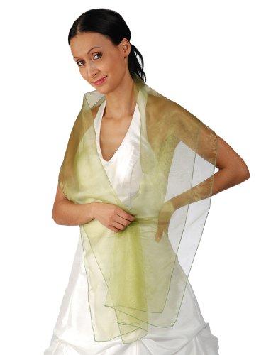 Austen - 9001 foulard en chiffon en organza Vert - Vert