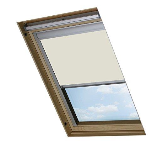Bloc skylight blind tenda a rullo oscurante per lucernari velux, bianca, f06
