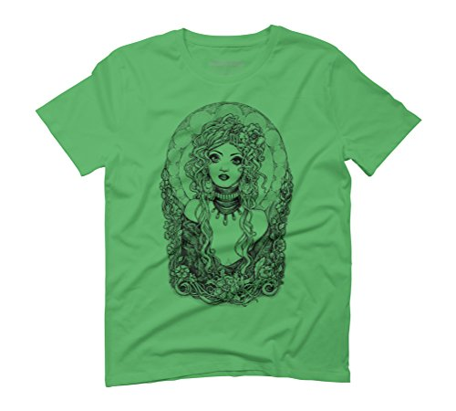 Dark ART Nouveau Men's Graphic T-Shirt - Design By Humans Green