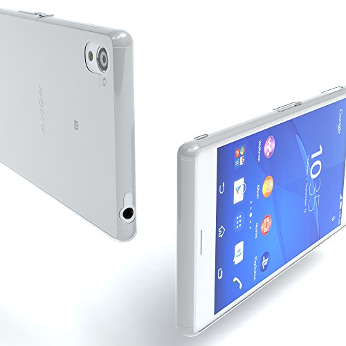 """Sony Xperia Z1 Compact Hülle - EAZY CASE Slimcover """"Clear"""" Handyhülle - Schutzhülle als Smartphone Case in Schwarz / Anthrazit Clear Transparent"""