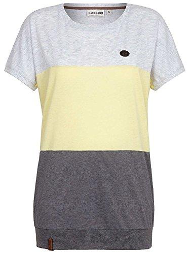 Naketano Rücken Schmücken IV W T-Shirt grigio giallo mélange