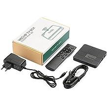 Hanbaili (EU Plug) WeChip V8 Android 7.1 TV Box, 2G + 16G Smart TV Box Amlogic S905W Quad Core Cortex-A53 WIFI 4K HD Set Top Box