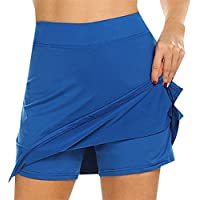 RANSHUO Anti-Chafing Active Skort Skirts Womens Performance Active Womens Running Sport for Running Tennis Golf Workout Sports Blue S