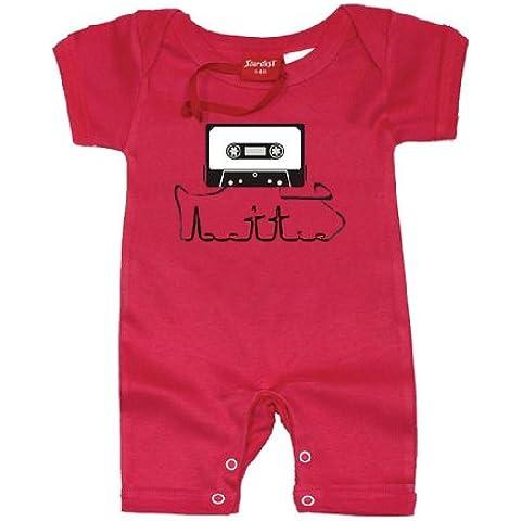 Cassette Boys singolarmente–Tutina per neonati bambini 100% cotone regalo di compleanno regalo di natale di alta qualità a mano stampato tute primo nome Set Regalo per Bambini Grande Idea