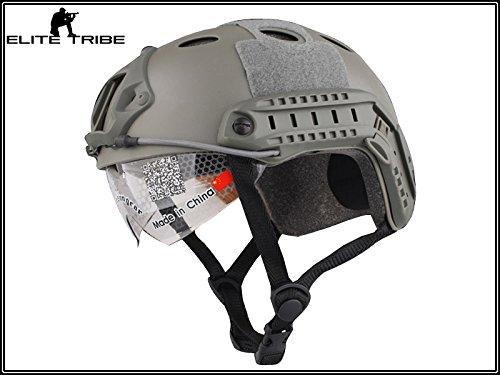casco de paintball militar casco táctico de combate FAST PJ tipo y...