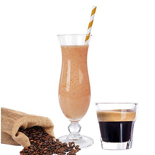 Espresso Geschmack Proteinpulver Vegan mit 90% reinem Protein Eiweiß L-Carnitin angereichert für Proteinshakes Eiweißshakes Aspartamfrei (1 kg)