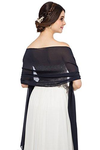 JAEDEN Chiffon Stola Schal für Brautkleider Abendkleider Alltagskleidung in Verschiedenen Farben...