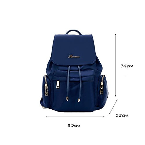 CLOTHES- Borsa femmina Versione coreana del tessuto semplice Nylon borsa a tracolla Canvas Cloth Oxford Cloth Backpack ( Colore : Blu ) Blu