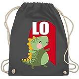 Valentinstag - Dinosaurier LOVE - Valentinstag Partner-Look rechts - Unisize - Dunkelgrau - WM110 - Turnbeutel & Gym Bag