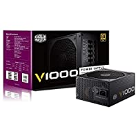 Cooler Master V Series V1000 12V 80 PLUS Gold Rated, Full Modular 1000W Power Supply | RS-A00-AFBA-G1