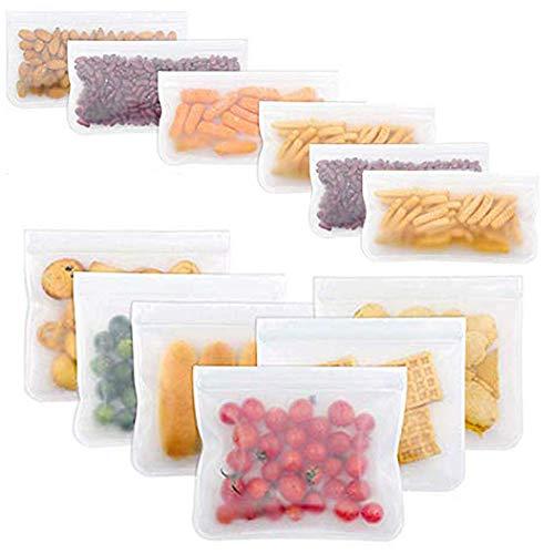 Extra Spessi 8 Pezzi Confezione panino Sacchetti per Freezer a Tenuta stagna per marinare Senza BPA joyoldelf Sacchetti Riutilizzabili per Alimenti Frutta Cereali 8 Pezzi