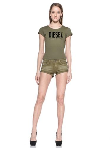 Diesel Denim-shorts Grün