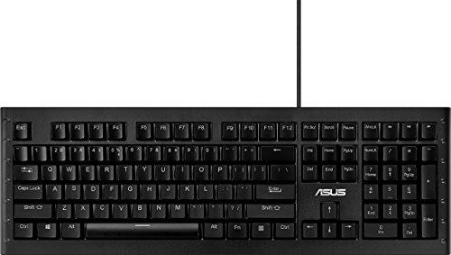 ASUS Computer ASUS GK1100 Beleuchtete Gaming Tastatur (kabelgebunden, programmierbar, Cherry-MX-Blue-Schalter, RGB, LED) Schwarz (Generalüberholt)