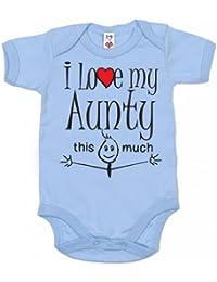 IiE, I love my Aunty this much, Baby Unisex Boy Girl, Bodysuit