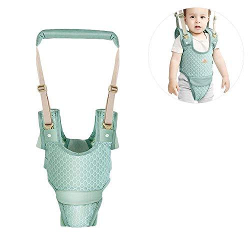 KOQIO Baby-Kleinkind-Gürtel, Baby-Gehassistent, Gehgeschirr, Handgriff, Baby-Gehhilfe, Aufstehen und Gehen, Lernhilfe, Atmungsaktiv, Leichtgewicht,Green (Und Aufstehen Gehen)