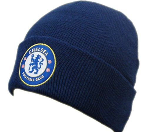 FC Chelsea London Winter Mütze Ski Mütze dunkelblau EDEL