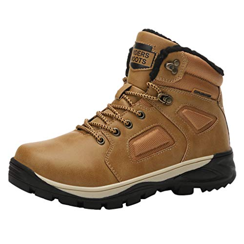 MISSQQScarpe da Escursionismo Scarpe Scarponi da Neve Invernali Piatto Pelliccia Stivali Sneaker Sportive Esterne Scarpe da Arrampicat